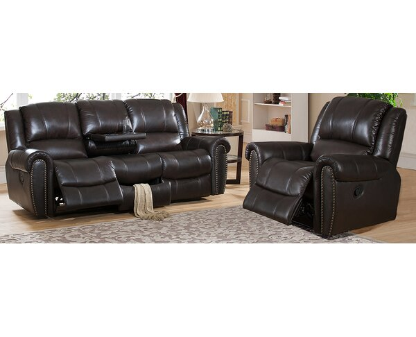 Charlotte Reclining 2 Piece Leather Living Room Set by Amax