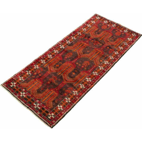 Antoinne Hand-Knotted Wool Red Rug