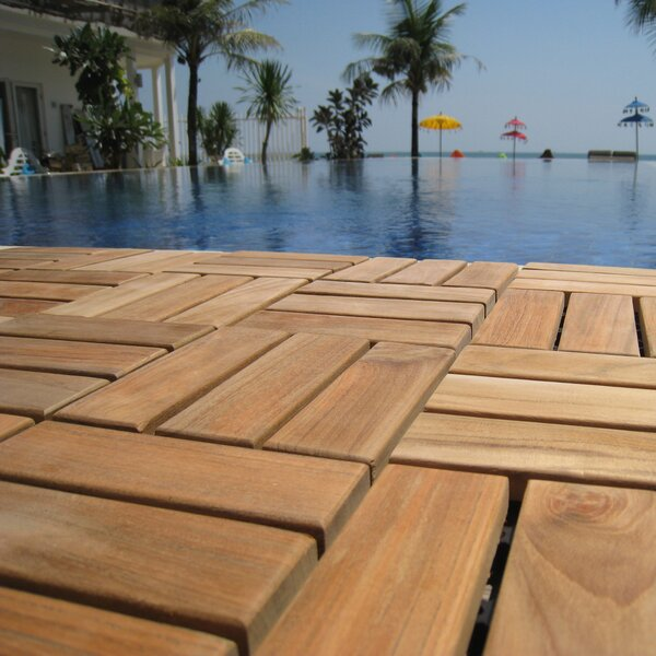 EZ-Floor 12 x 12 Wood Interlocking Deck Tile in Na