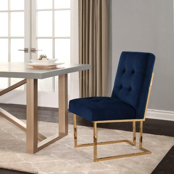Takengon Velvet Upholstered Dining Chair by Mercer41