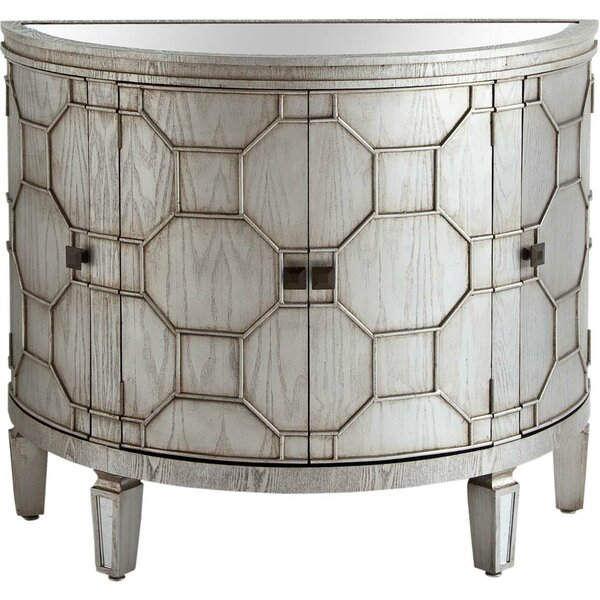 Ezell 4 Door Half-Circle Accent Cabinet By Bungalow Rose
