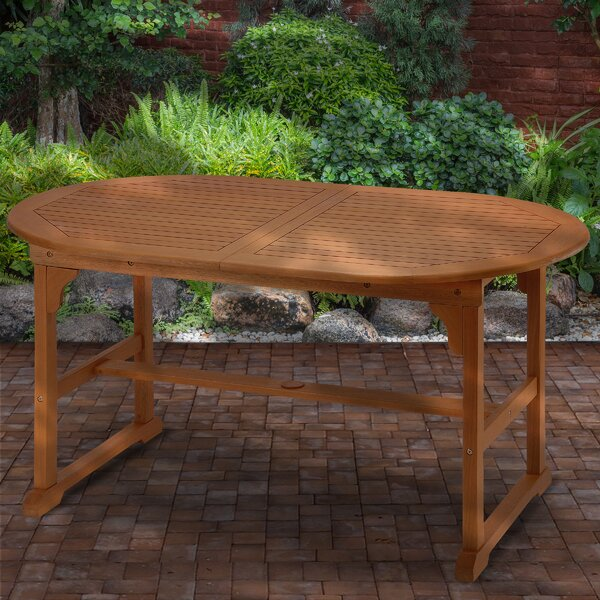 Mustafa Extendable Wooden Dining Table by Union Rustic