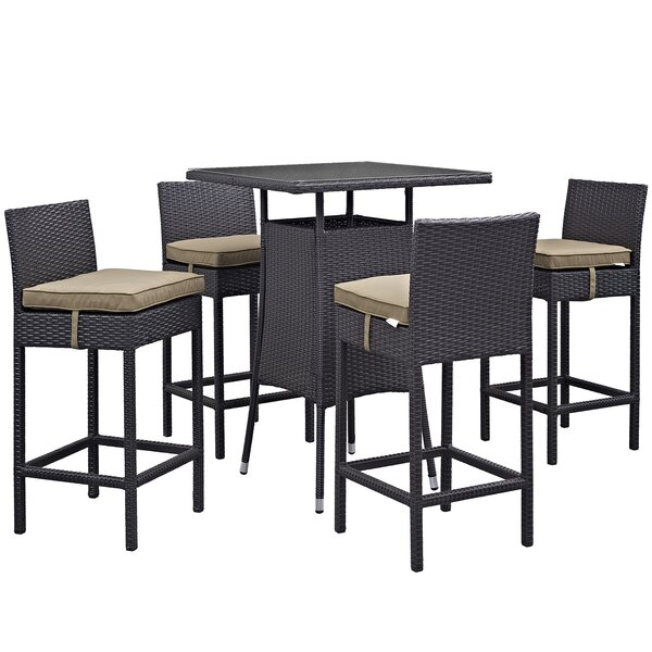Ryele 5 Piece Bar Height Dining Set by Latitude Ru
