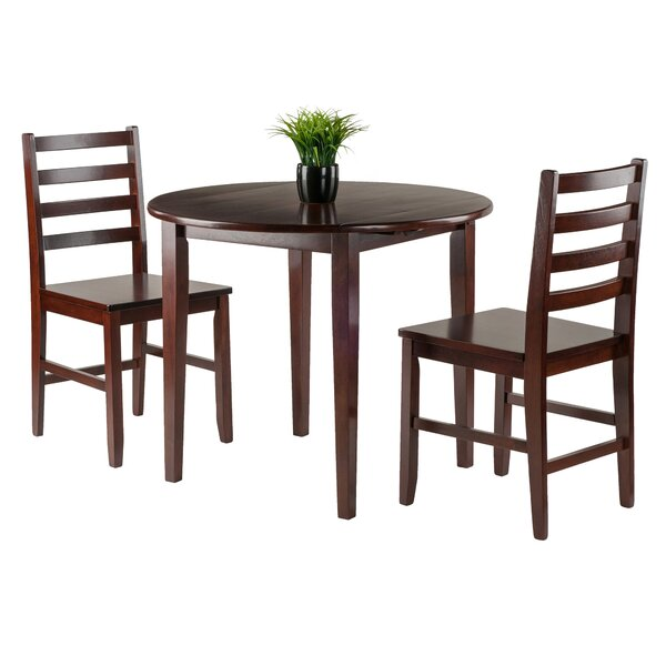 Kendall 3 Piece Drop Leaf Wood Dining Set by Alcott Hill