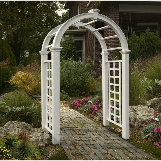 Nantucket Deluxe Vinyl Arbor by New England Arbors