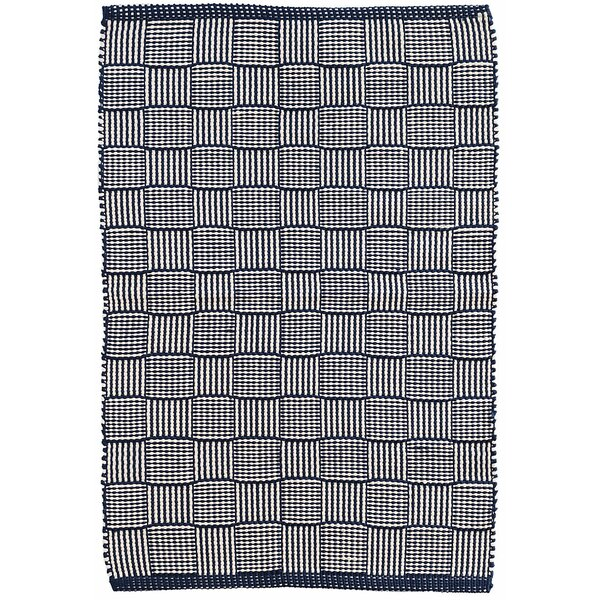 Webber Hand-Woven Blue Indoor/Outdoor Area Rug by Dash and Albert Rugs