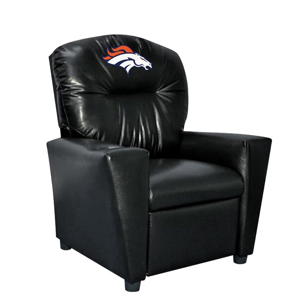 NFL Kids Faux Leather Recliner with Cup Holder by Imperial International