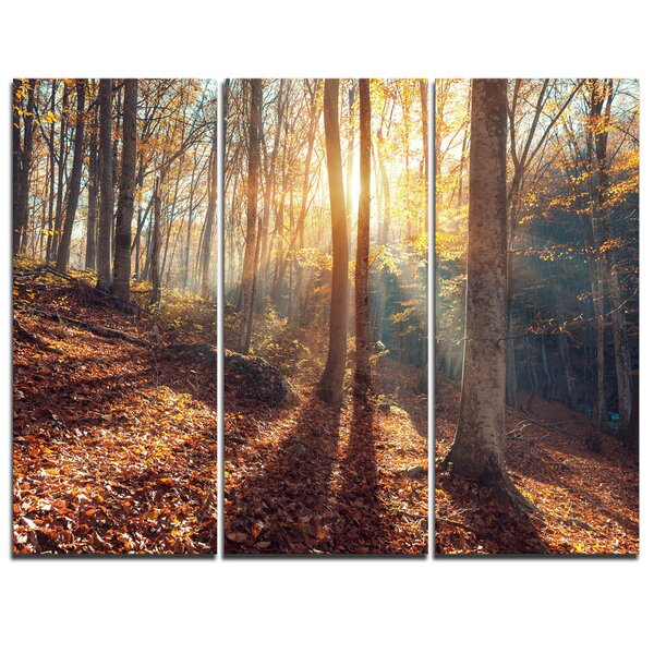 Crimean Mountains Autumn - 3 Piece Photographic Print on Wrapped Canvas Set by Design Art