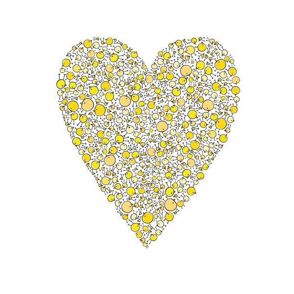 Lotsa Alphabet Art Heart Chicks Paper Print by Cici Art Factory