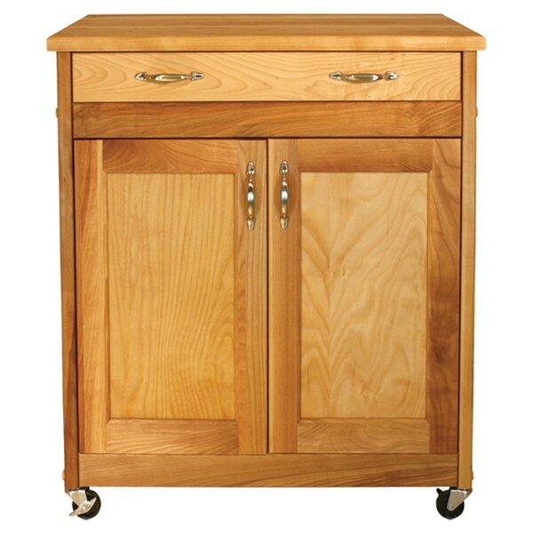 Catskill Craftsmen Designer Kitchen Cart With Wood Top