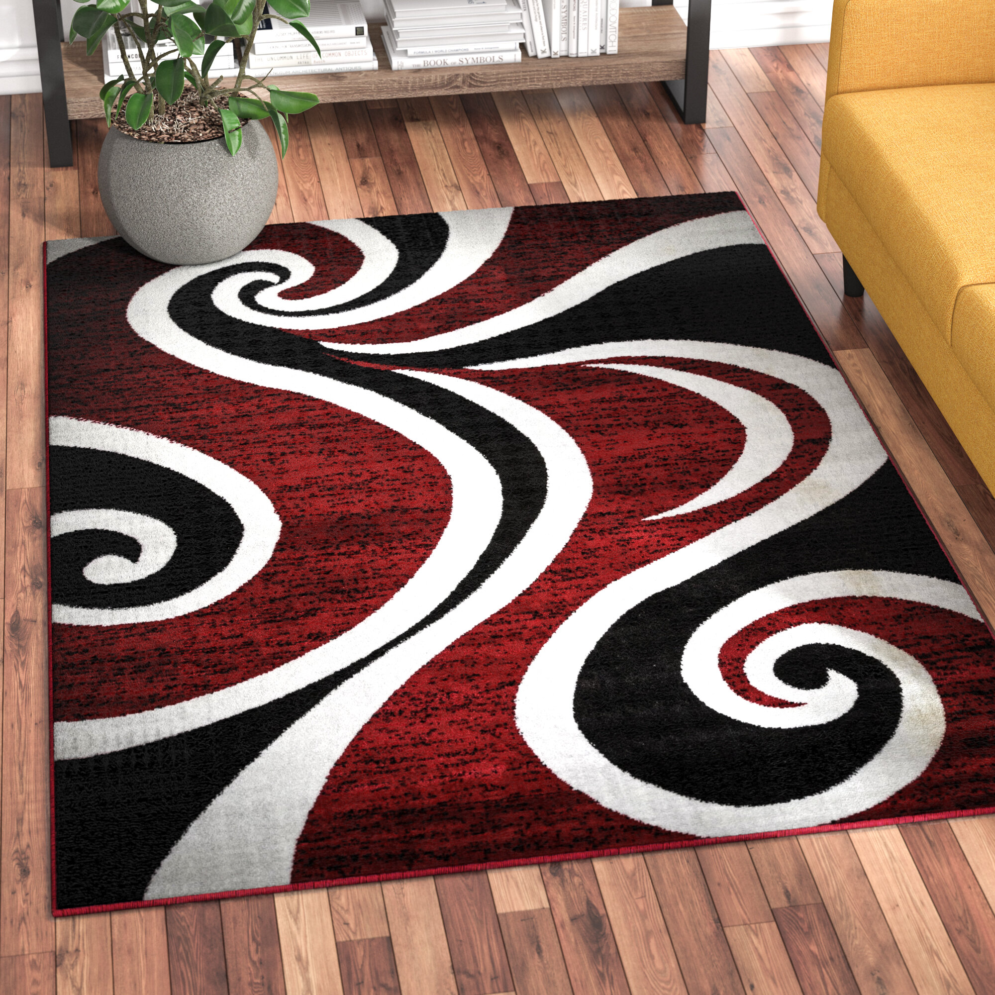 Zipcode Design Mckenzie Redblackwhite Area Rug Reviews Wayfair