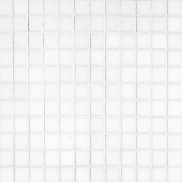 Thassos 1 x 1 Marble Mosaic Tile in White by Epoch Architectural Surfaces