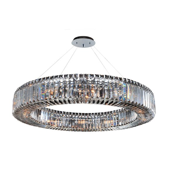 Richwood 12-Light Unique / Statement Wagon Wheel Chandelier By Everly Quinn