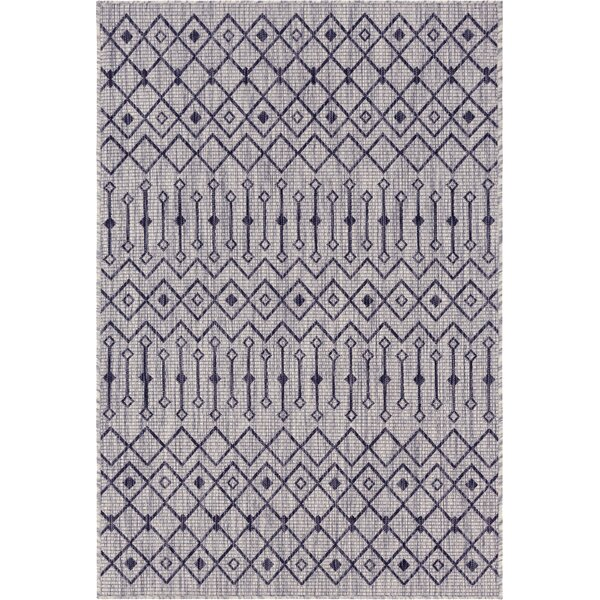 Jaylah Light Gray Indoor/Outdoor Area Rug by Gracie Oaks