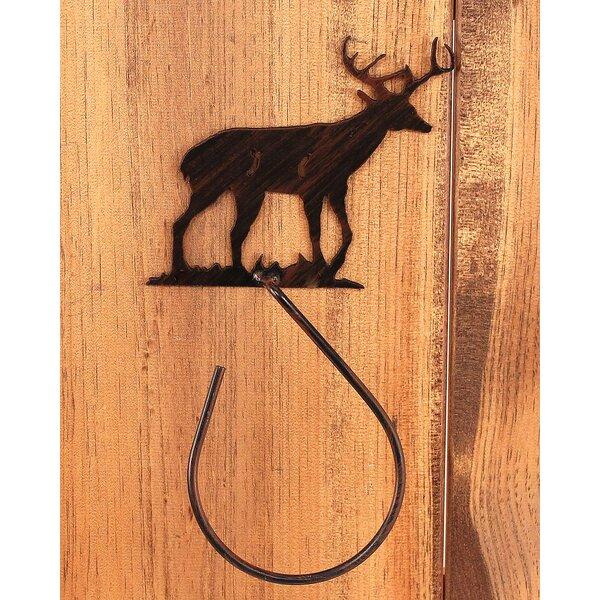 Gonzalez Deer 13 Wall Mounted Hand Towel Holder by Loon Peak