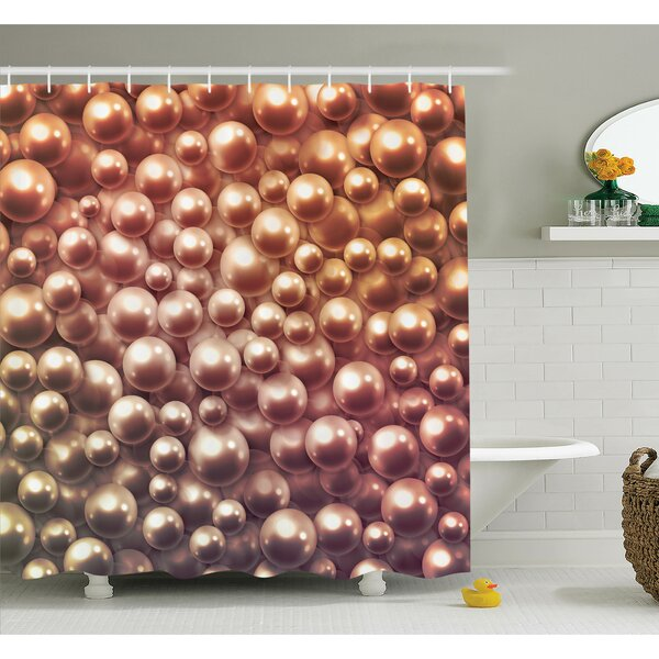 Jewelry Glitters Shower Curtain Set by Ambesonne