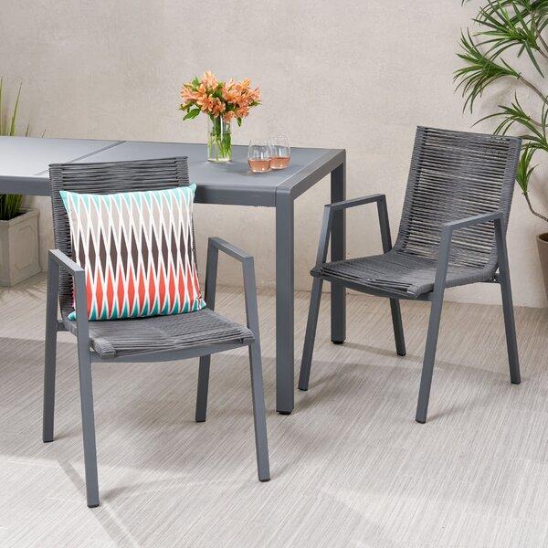 Castine Patio Dining Chair (Set Of 2) By Orren Ellis by Orren Ellis New