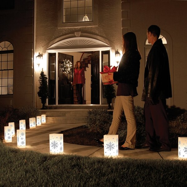 Snowflake Luminary (Set of 10) by The Holiday Aisle
