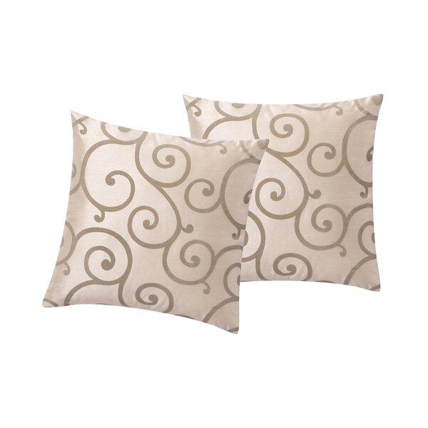 Lanning Flocked Throw Pillow (Set of 2) by Winston Porter