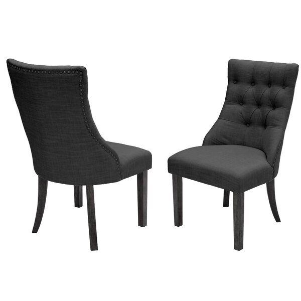 Royal Upholstered Dining Chair by Canora Grey