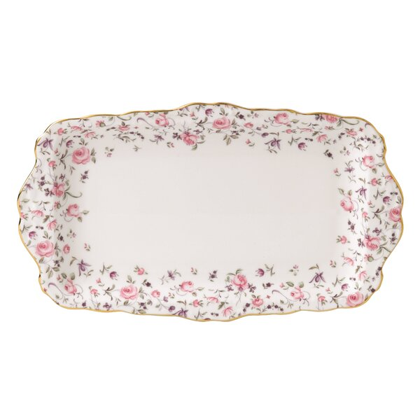Rose Confetti Vintage Formal Rectangular Serving Tray by Royal Albert