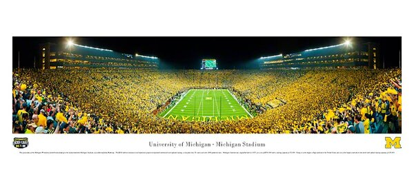 NCAA University of Michigan by James Blakeway Photographic Print by Blakeway Worldwide Panoramas, Inc