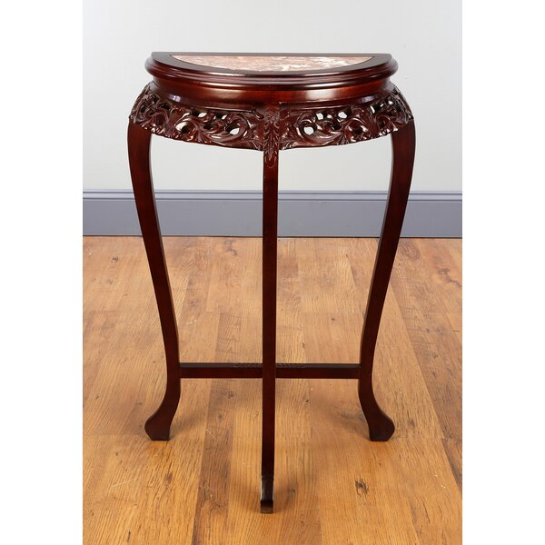 Bewley Half Round Marble Top Etagere Plant Stand by Canora Grey