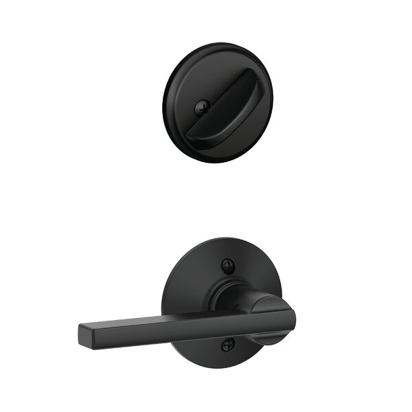 Interior Handleset Latitude Lever and Interior Single Cylinder Deadbolt Thumbturn by Schlage