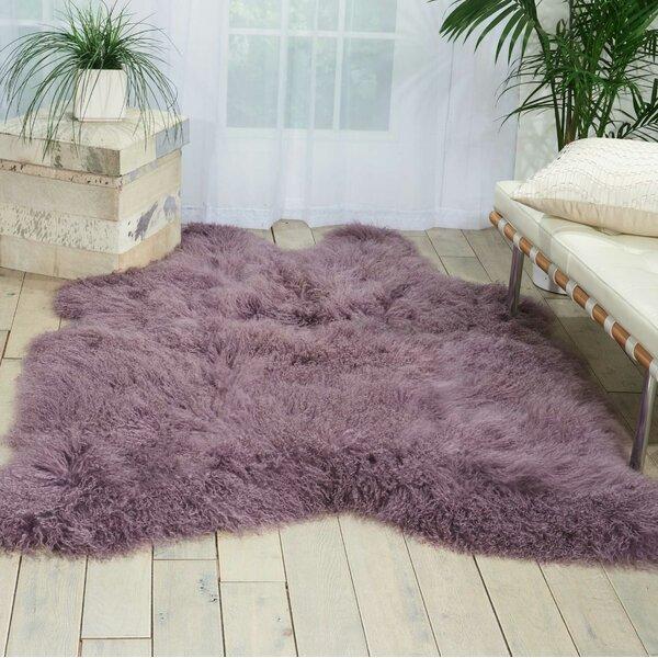 Christine Sheepskin Lavender Area Rug by Viv + Rae