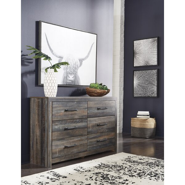 Lulsgate 6 Drawer Double Dresser by Millwood Pines
