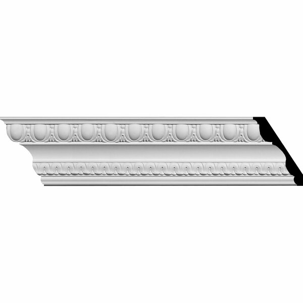 Bedford 4 7/8H x 94 5/8W x 3 1/2D Egg and Dart Crown Moulding by Ekena Millwork