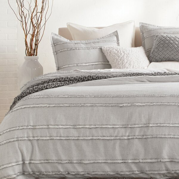 Fringe Stripe Duvet Cover Set