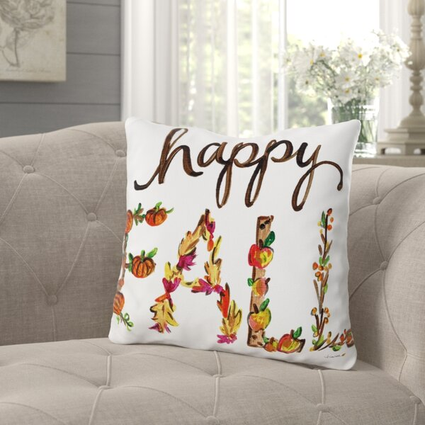 Roncy Happy Fall Flowers Throw Pillow by Gracie Oaks