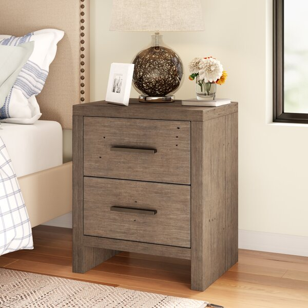 Keynsham 2 Drawer Nightstand by Three Posts