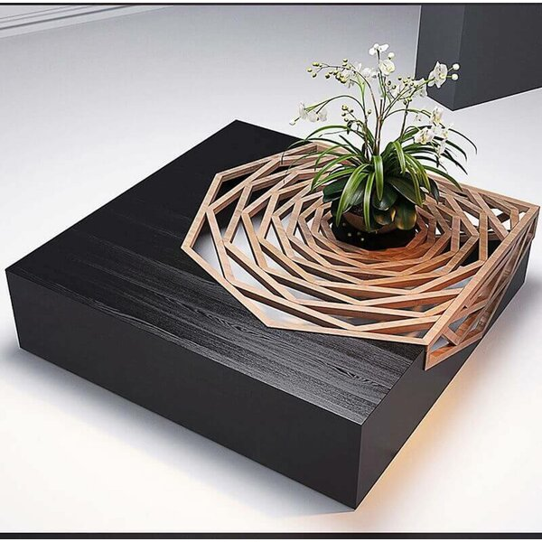 Hanako Solid Wood Abstract Coffee Table By Oggetti