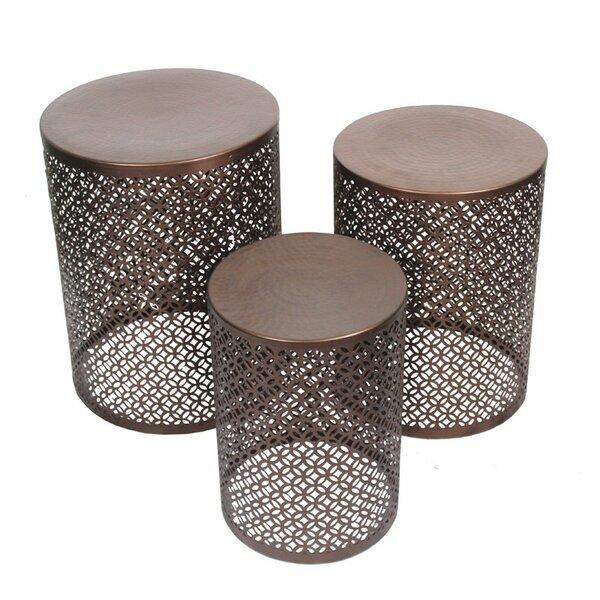 3 Piece Copper Stool Set by ESSENTIAL DÉCOR & BEYOND, INC