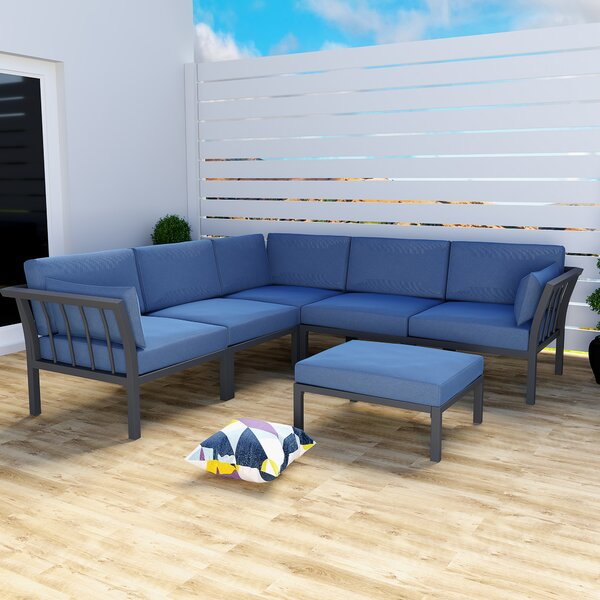 Allessio Patio Sectional with Cushions by Latitude Run Latitude Run