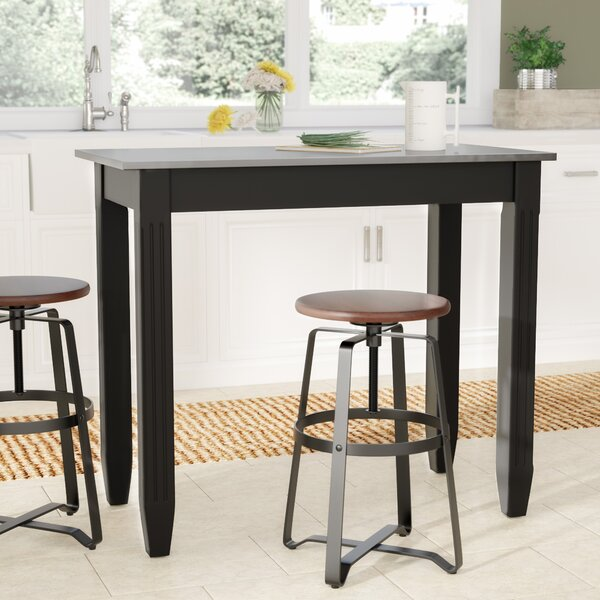 Citronelle Galvanized Counter Height Pub Table by Laurel Foundry Modern Farmhouse