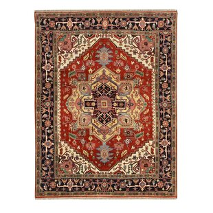 Read Reviews Hand-Knotted Red/Black Area Rug ByWildon Home ®