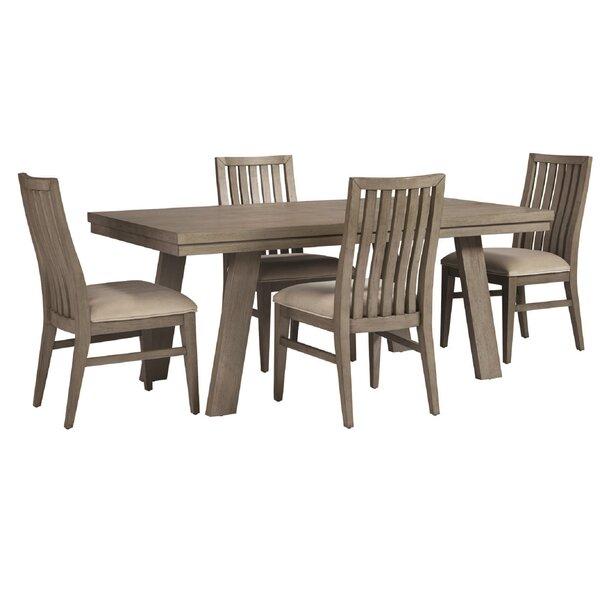 Pingree 5 Piece Solid Wood Dining Set By Brayden Studio Best