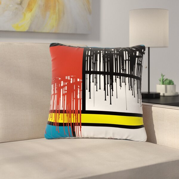 Just L Saint Drips Abstract Outdoor Throw Pillow by East Urban Home