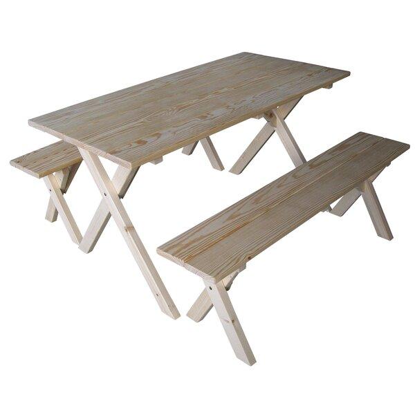 Jonathon Wooden Picnic Table By Loon Peak