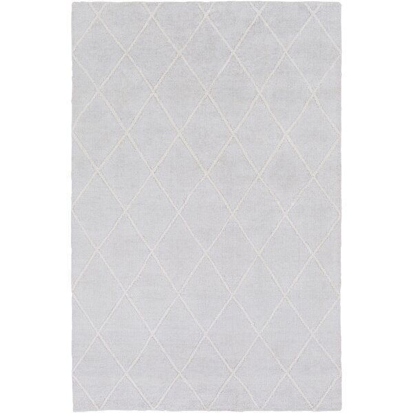 Parkstone Hand-Knotted Light Gray/Ivory Area Rug by Darby Home Co