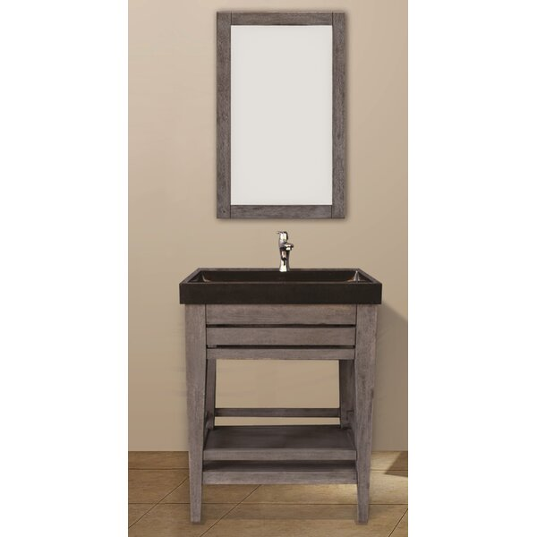 Madalyn 25 Single Bathroom Vanity Set with Mirror by Union Rustic