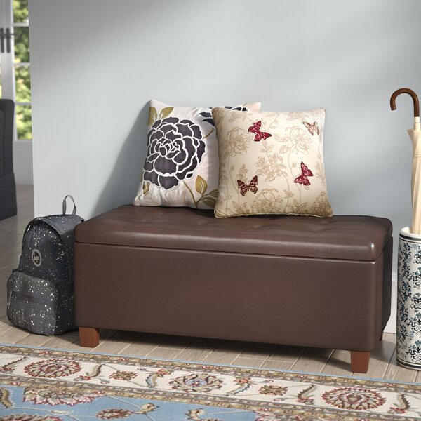 Tamesbury Faux Leather Storage Bench by Andover Mills
