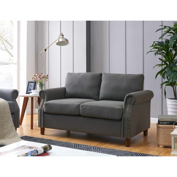 Cowie Classic Nailhead Loveseat by Darby Home Co