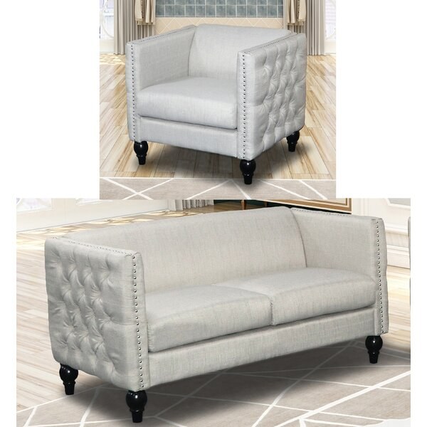 Best #1 Annuziata 2 Piece Living Room Set By House Of Hampton Sale
