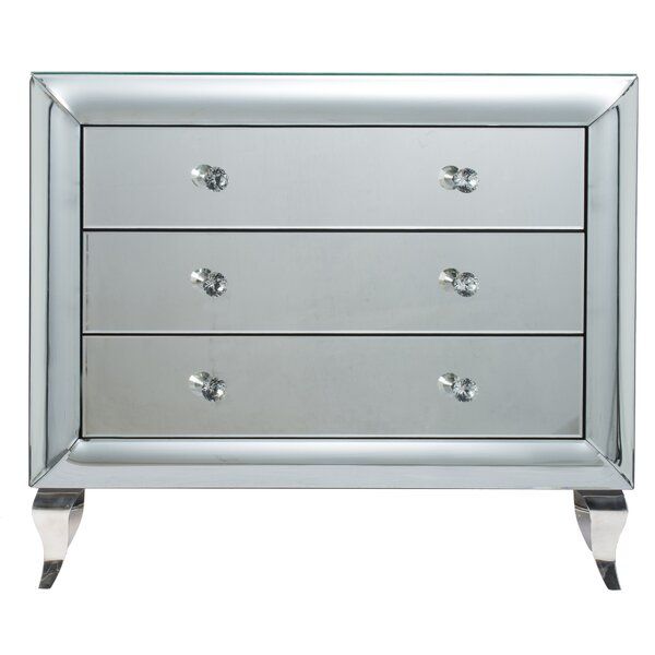 Travis 3 Drawer Mirrored Accent Chest By House Of Hampton