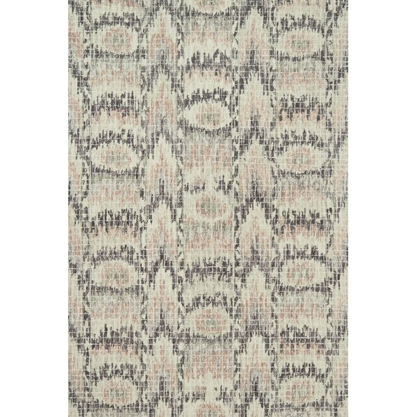 Zeinab Hand Hooked Wool Blush/Rasin Area Rug by Bungalow Rose