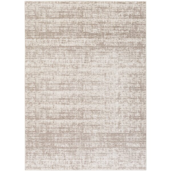 Zellmer Hand-Woven Taupe/Ivory Area Rug by George Oliver